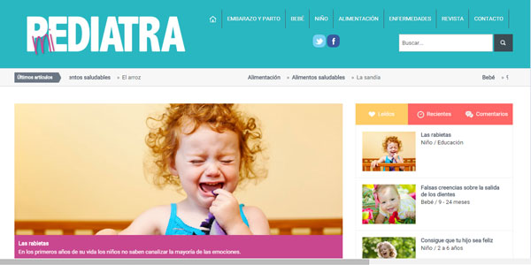 Lanzamiento web Revista Mi Pediatra
