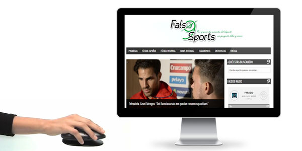 Re-diseño web Falso9Sports
